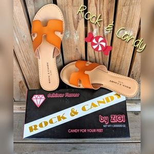 """NIB Rock and Candy """"Bindy"""" Leather Sandals, Sz 6"""